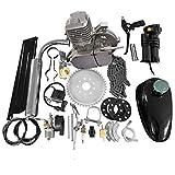 80CC 26' 28' Bike Bicycle Motorized 2 Stroke Cycle Petrol Gas Engine Kit Set(Silver)
