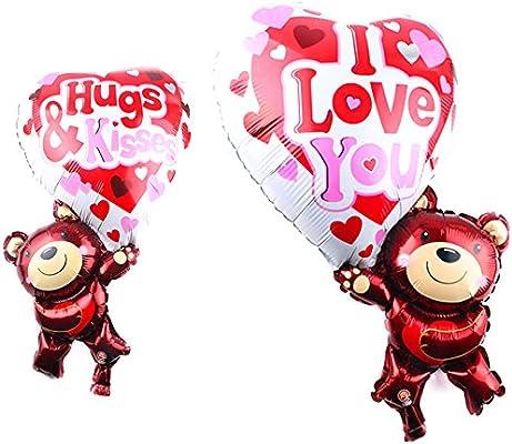 Globo Balón hinchable oso oso corazón amor San Valentín fiesta ...