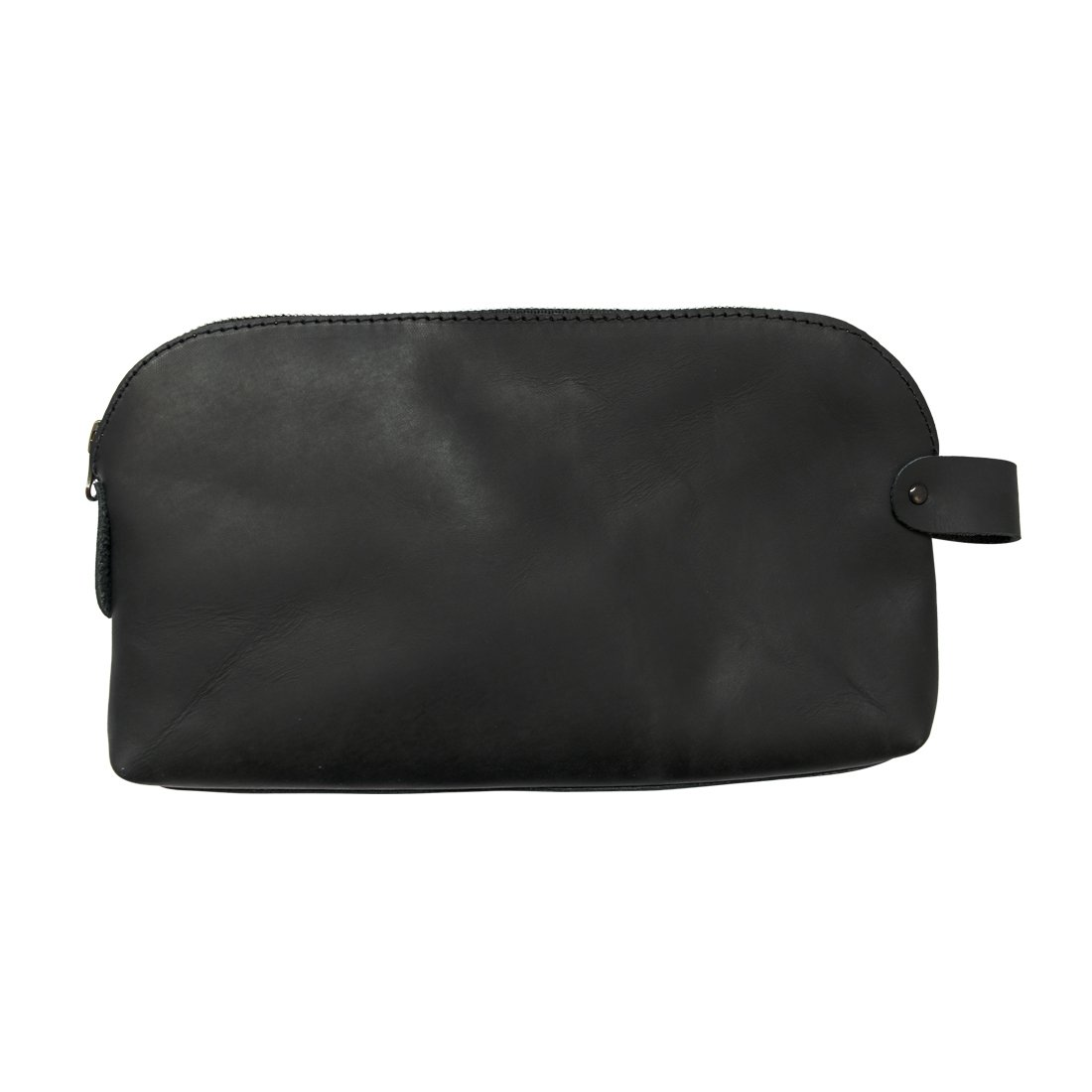 Large All Purpose Dopp Kit Utility Bag (Cords, Chargers, Tools, School / Office Supplies) Handmade by Hide & Drink :: Charcoal Black