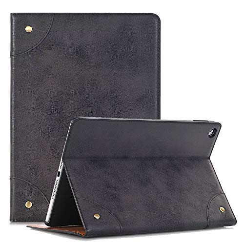 YiMiky Tablet Case for Samsung Galaxy Tab S5e, Lightweight Slim PU Leather Case with Stand Full Body Protective Hard Shell for Samsung Galaxy Tab S5e T720 T725 10.5 Inch 2019/Men Women Teens(Black)
