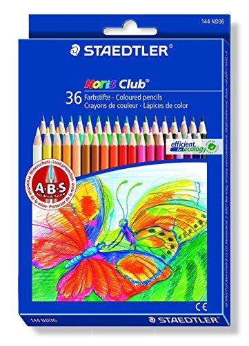 Staedtler - Noris Club 144 - Etui Carton Double Couche 36 Crayons de Couleur Assortis