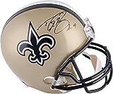 Drew Brees New Orleans Saints Autographed Riddell Replica Helmet - Fanatics Authentic Certified - Autographed NFL Helmets