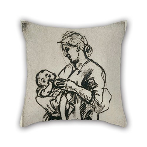[Elegancebeauty Oil Painting Jerome Myers - Mother And Child Cushion Covers 20 X 20 Inches / 50 By 50 Cm Gift Or Decor For Study Room,lounge,home,kids,home Office,girls - Double] (Alice In Wonderland Costume Ideas Diy)
