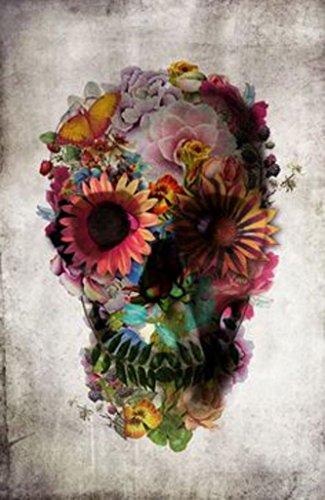 Floral Skull Flowers Ali Gulec Art Print Poster 24x36