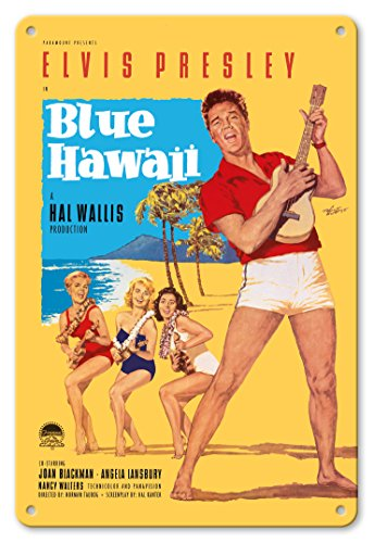 - Pacifica Island Art 8in x 12in Vintage Tin Sign - Elvis Presley in Blue Hawaii by Rolf Goetze
