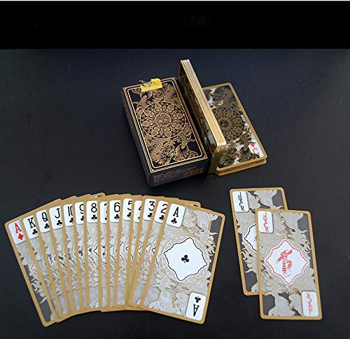 XIANGQI Waterproof Crystal Phnom Penh Gold Plated Plastic Playing Card ()