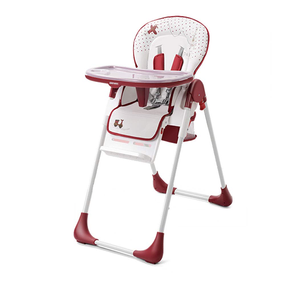 ポータブル折りたたみ式椅子多機能椅子ベビーダイニングチェア (Color : Red, Size : 50 * 90 * 106cm) 50*90*106cm Red B07GZHVL4K