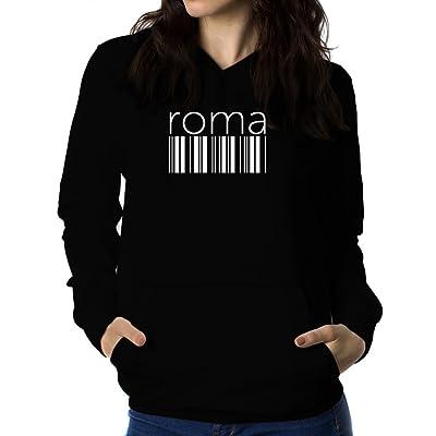 Roma barcode 女性 フーディー