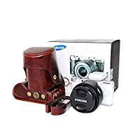 xhorizon TM FLK Protective Leather Camera Case, Bag for Samsung NX300 Smart Wi-Fi Digital Camera with 18-55mm Lens and 20-50mm Lens from xhorizon