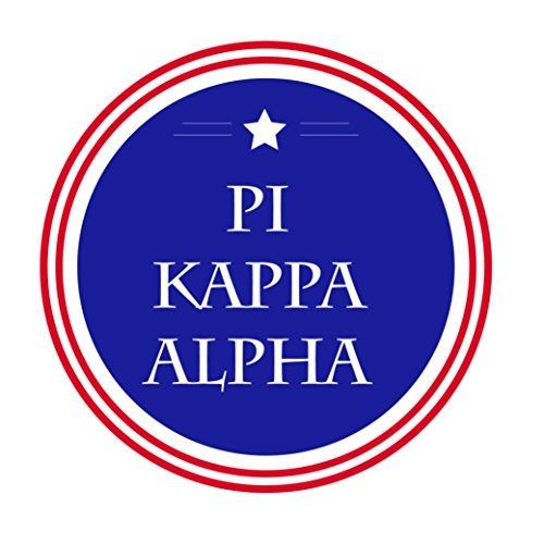 Pi Kappa Alpha Fraternity Usa Single Star Circle Sticker Decal 3 Inch Greek For Window Laptop Computer Car Pike