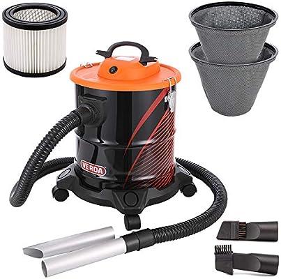 Aspirador de cenizas, 20 L, 1200 W, con filtro HEPA y 2 filtros ...