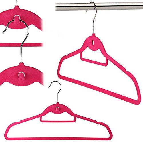 Hangerworld Flocked Clothes Hangers Cascading