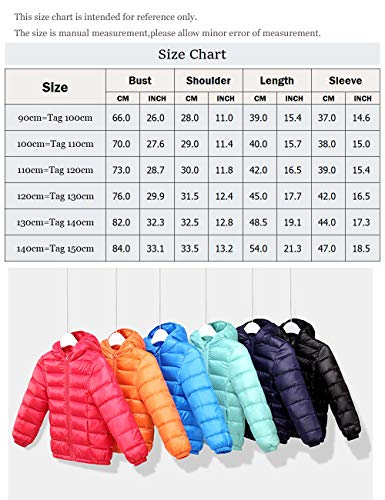 Hooded Jacket Girls Warm Windproof Thin BESBOMIG Orange Kids Zipper Outerwear Lightweight Unisex Jacket Boys Winter Coats Down 4tqv5vw