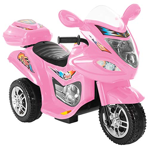 Lil' Rider Ride-On Toy Trike Motorcycle -Battery Operated Electric Tricycle for Toddlers with Built-in Sound and Working Headlights ()