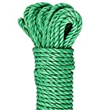 GardenMate Polypropylene (PP) Green Utility Rope, 30m long, 6mm thick, 3 core strands