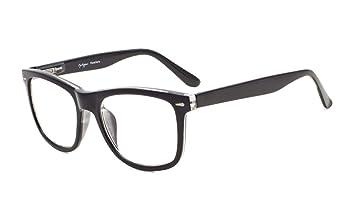 14fbda1cc65 Image Unavailable. Image not available for. Color  Eyekepper Readers Square  Large Lenses Spring-Hinges Reading Glasses Men Women Black +0.5