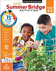 Summer Bridge Activities Workbook―Bridging Grades 4 to 5 in Just 15 Minutes a Day, Reading, Writing, Math, Science, Social Studies, Summer Learning Activity Book With Flash Cards (160 pgs)