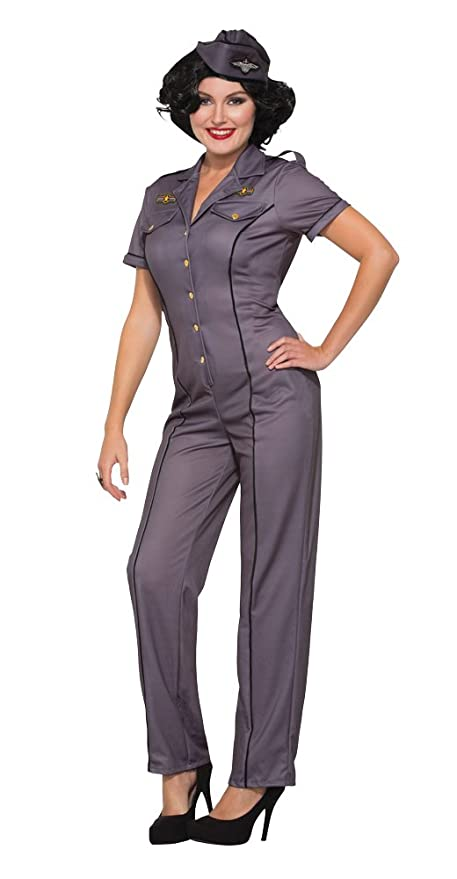 1940s Costumes- WW2, Nurse, Pinup, Rosie the Riveter Forum Novelties Air Force Anna Adult Costume (M/L)- $54.99 AT vintagedancer.com