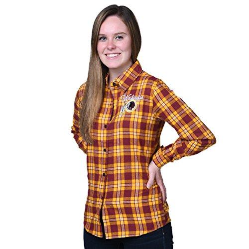 (Washington Redskins 2016 Wordmark Basic Flannel Shirt - Womens Extra Large)