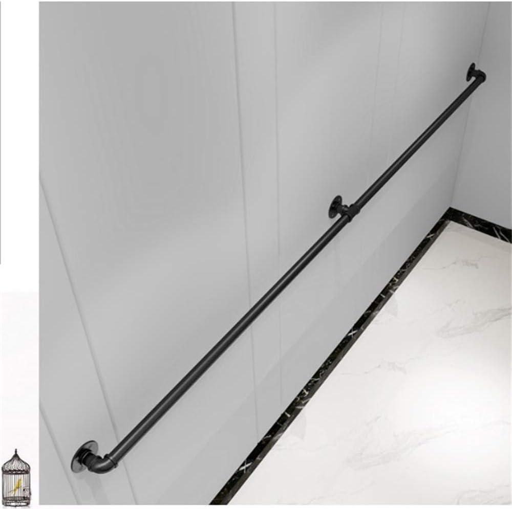 YIKE-Marches en Fer forg/é Escaliers Main Courante Noire Couloirs industriels pour /éoliennes int/érieures et ext/érieures Grenier Garde-Corps pour Personnes /âg/ées et Enfants 30cm-600cm Longueur