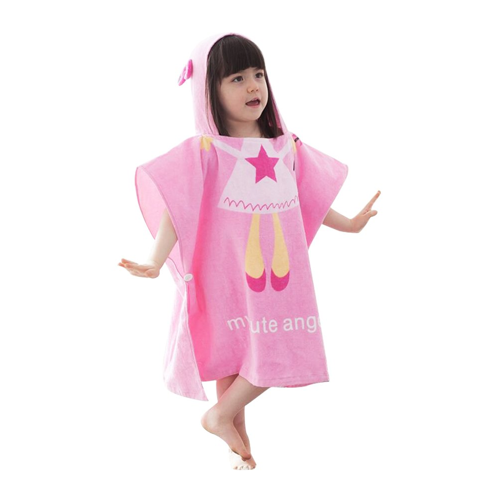 Luckym Children Animal Bathrobes Cartoon Animals Hooded Cape Towel Beach Towel