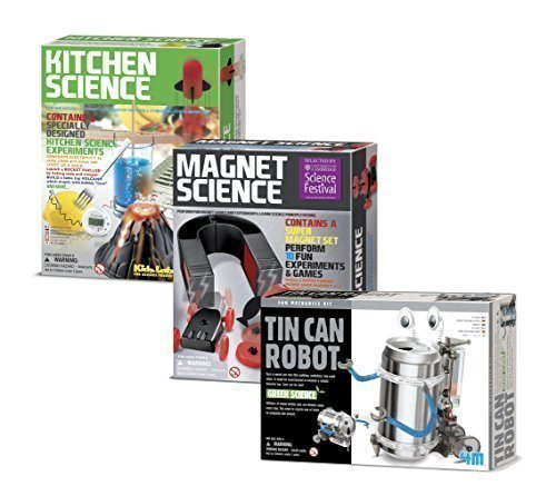 Universal Specialties Tin Can Robot - Kitchen Science - Magnet Science Gift Bundle - 3 Pack -