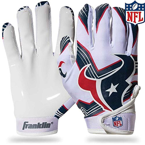 NFL Houston Texans Youth Receiver Gloves,White,Medium