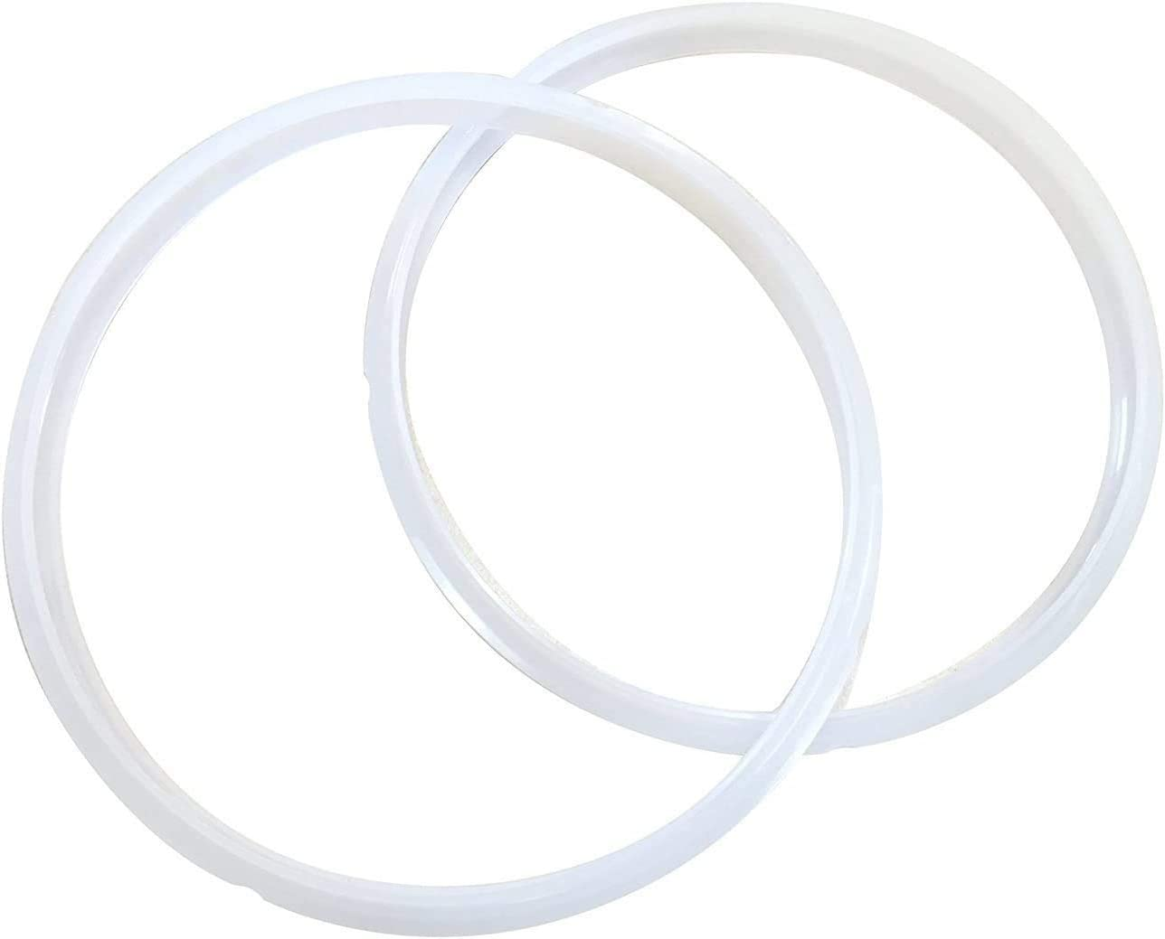 Power Pressure Cooker Sealing Ring Clear Color Multi-Cooker Rubber Gaskets for Many 5 Liter 6 Liter 5 Quart and 6 Quart Models, Set of 2