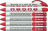Greeting Pen 'Nurses Have Heart' #1 Nurse Pens with Rotating Messages, 6 Pen Set (36541)