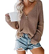 Asvivid Long Sleeve Open Front Cardigans for Women Lightweight Casual Loose Soft Knit Sweater Car...