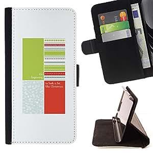Momo Phone Case / Flip Funda de Cuero Case Cover - Cita Blanco Verde Melocotón - Samsung Galaxy J1 J100