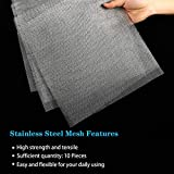 10 Pieces Stainless Steel Woven Wire 20 Mesh Metal