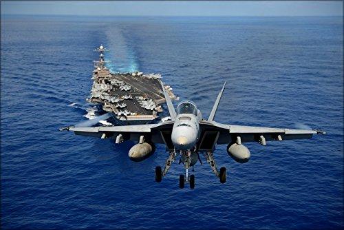20x30 Poster; Fa-18E Super Hornet F-18 Strike Fighter Squadron (Vfa) 14 (Cvn 74) ()