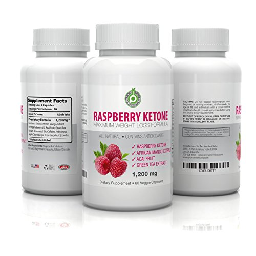 Genuine Raspberry Ketones - 1200mg per serving - 60 Vegetarian Capsules with Green Tea Extract, Acai Fruit & African Mango – All Impulsive Fat Burning Supplement for Weight Loss - Satisfaction Guarantee