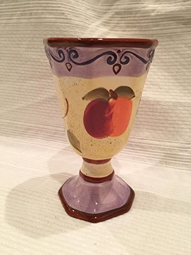 (Tabletops Medici Lavender/Fruit Ceramic Footed Cup or Chalice (7