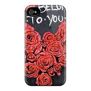 ZmrTVnd3992EcMJy BJBcke Awesome Case Cover Compatible With Iphone 4/4s - My Heart Belongs 2 U
