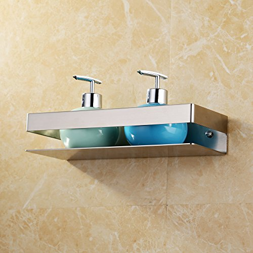Kes Bathroom Shelf Stainless Steel Bath Shower Shelf Basket Caddy RUSTPROOF Square Modern Style Wall Mounted Brushed Finish, BSC205S30A-2 by Kes (Image #3)