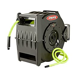 Flexzilla Levelwind Retractable Air Hose Reel, 12 In. X 50 Ft., Heavy Duty, Lightweight, Hybrid, Zillagreen - L8335fz