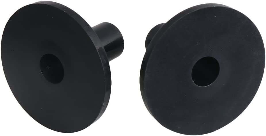 BQLZR 3.8x2.6cm Black Plastic Long Cymbal Sleeves with Flange Base for Drum Set Accessory Pack of 100