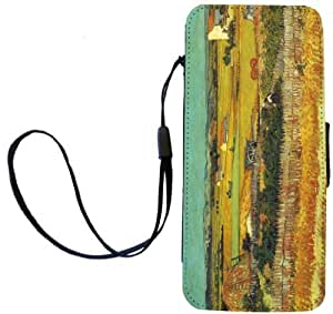 Rikki KnightTM Van Gogh Harvest Design iPhone Apple 5c PU Leather Wallet Type Flip Case with Magnetic Flap and Wristlet for Apple iPhone 5c