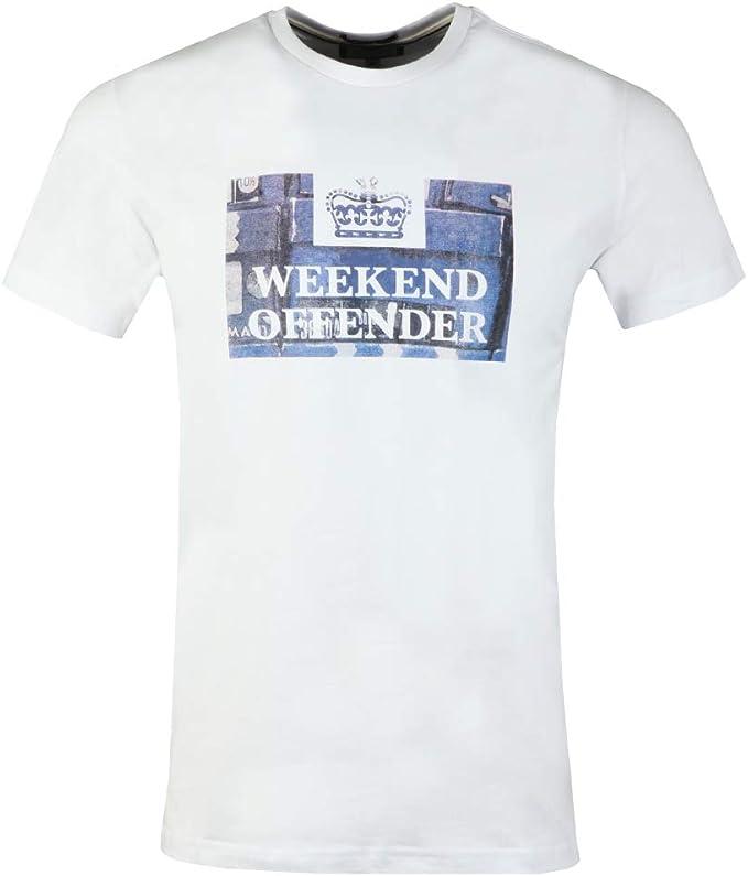 WEEKEND OFFENDER MEN/'S DOVES WHITE T-SHIRT