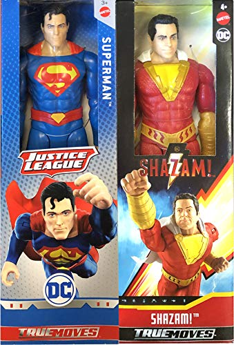 Goofy Hero Vs Very Serious Superhero: Big Figure Pack 2-Pack Superman Vs. Shazam! Movie True Moves Series DC Comics 12