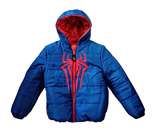 Spiderman 593285 Reversible Jacket Red/Blue SIZE 7 (Spiderman Reversible Costume)