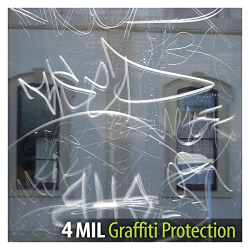 BDF AG4M Window Film Graffiti Protection 4 Mil Clear (24in X 14ft) by Buydecorativefilm (Image #3)