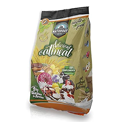 Harina de Avena Delicious Ouatmeal Sabores Variados 1Kg (Brownie)
