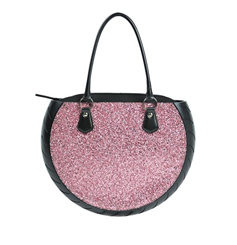 Borsa donna Ty's Bag Glitter Pink rosa in glitter e gomma made in Italy