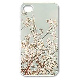 Custom Personalized Beautiful Follower Cherry Blossom Tree Cover Hard Plastic iPhone 4 4S Case