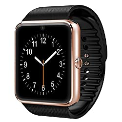 Cnpgd [U.s. Warranty] All-in-1 Smartwatch & Watch Cell Phone Gold For Iphone, Android, Samsung, Galaxy Note, Nexus, Htc, Sony