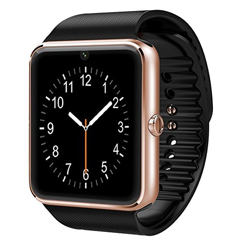 CNPGD [U.S. Warranty] All-in-1 Smartwatch and Watch Cell Phone Gold for iPhone, Android, Samsung, Galaxy Note, Nexus, HTC, Sony