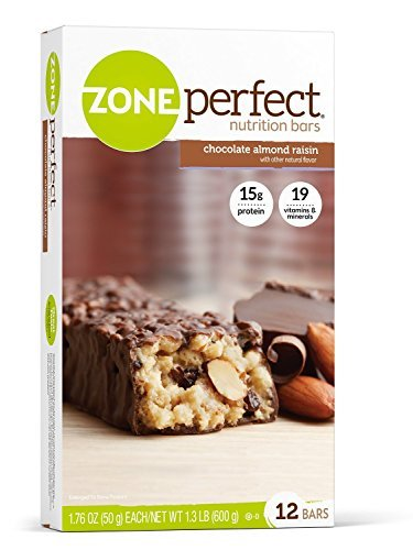 Zone Perfect Nutrition Bar, Chocolate Almond Raisin, 12 Count ( Case of 3 ) by Zone Perfect